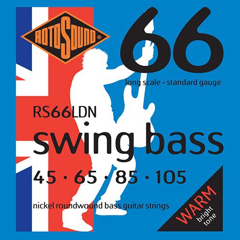 Rotosound RS66 LDN Swing Bass strings. Steel nickel roundwound round wound swingbass bass wire precision jazz Rickenbacker 4003 John Entwistle bajo guitare rock metal standard gauge regular bright
