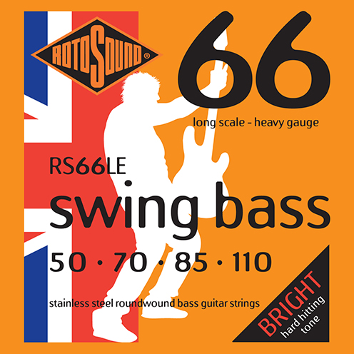 Rotosound RS66 LE Swing Bass strings. Steel roundwound round wound swingbass bass wire precision jazz Rickenbacker 4003 John Entwistle bajo guitare rock metal standard gauge regular bright