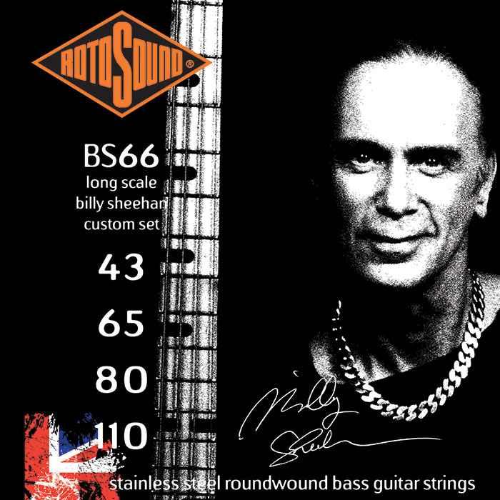 Rotosound BS66 Billy Sheehan Custom Set stainless steel roundwound bass guitar strings gitar stings srings