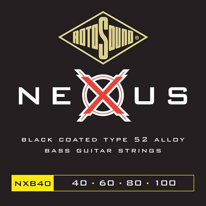 NXB40 Rotosound Nexus Polymer Coated 40 100 Type 52 medium scale standard electric bass guitar strings set elixir ellixir elixer elicksir XT