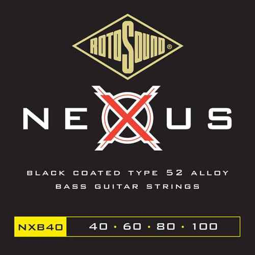NXB40 Rotosound Nexus Polymer Coated 40 100 Type 52 medium scale standard electric bass guitar strings set elixir ellixir elixer elicksir XT