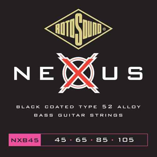 NXB45 Rotosound Nexus Polymer Coated 45 105 Type 52 medium scale standard electric bass guitar strings set elixir ellixir elixer elicksir XT