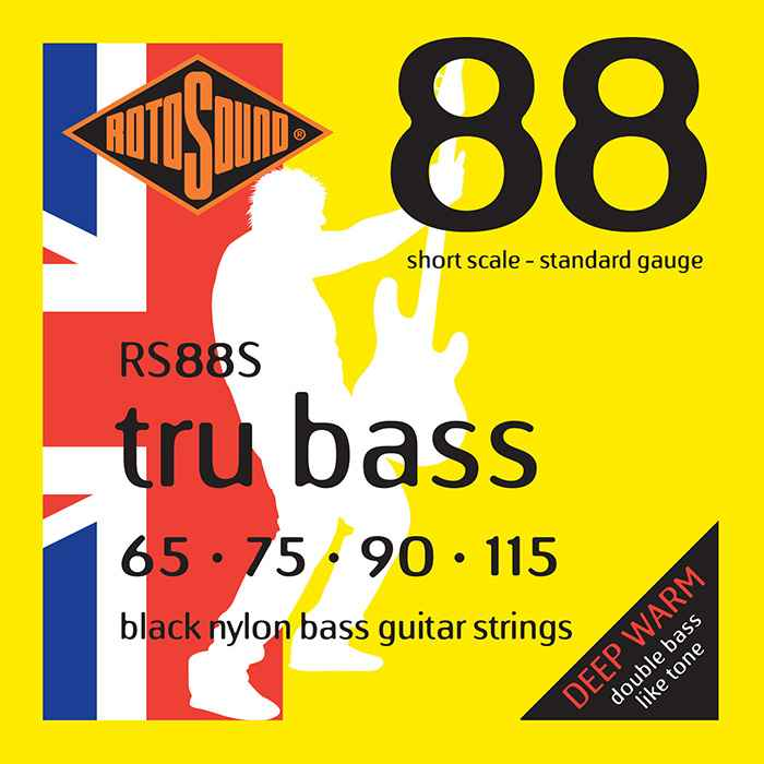 rs88s Rotosound Tru Bass guitar strings black nylon yellow silk double doublebass tone sound paul mccartney low tension fretless dub reggae