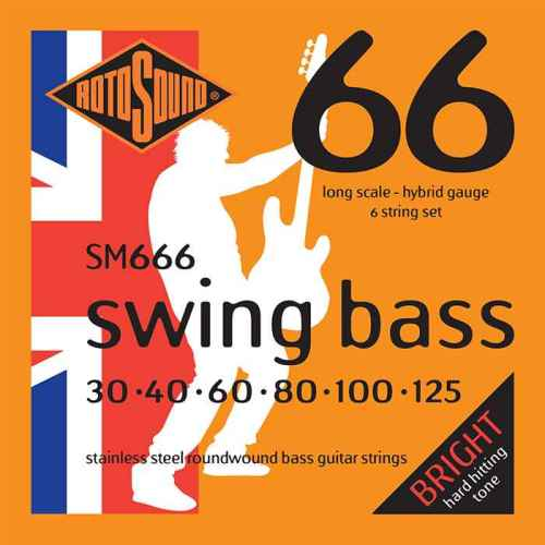 SM666 6 string hybrid Swing Bass 66 6string bass guitar set of string 30 125 gauge bright stainless steel tone roundwound round wound
