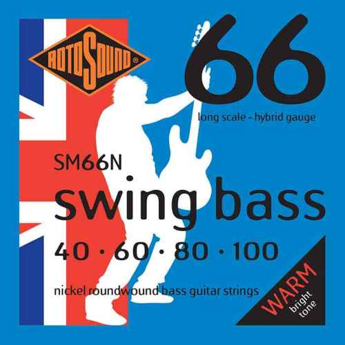 SM66N nickel strings hybrid gauge Swing Bass 66 5string bass guitar set of string 40 125 gauge bright stainless steel tone roundwound round wound guage medium 40 100
