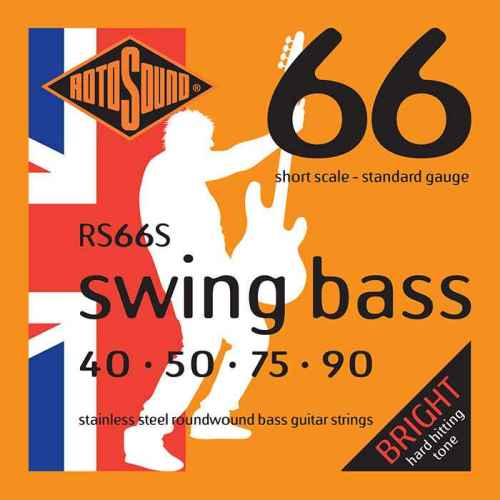 RS66S Rotosound RS66 S Swing Bass short scale bas guitar strings. Steel roundwound round wound swingbass bass wire precision jazz Rickenbacker 4003 John Entwistle bajo guitare rock metal standard gauge regular bright