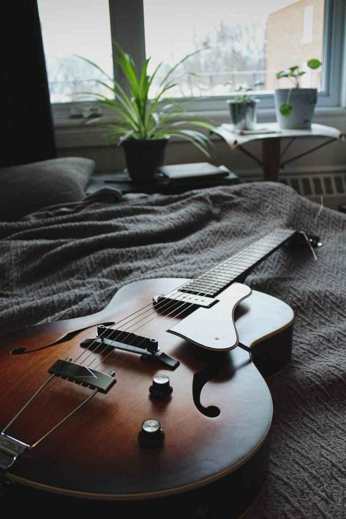 Old guitar Rotosound photo credit Christophe Dion on Unsplash