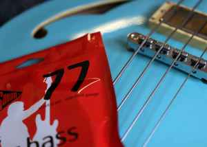 Rotosound Jazz Bass Flatwound Strings RS77 Italia blue bass hollowbody