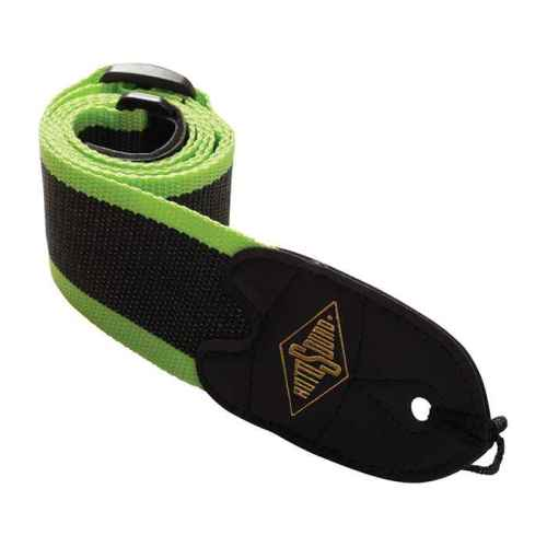 Rotosound STR11 webbing guitar strap black/green