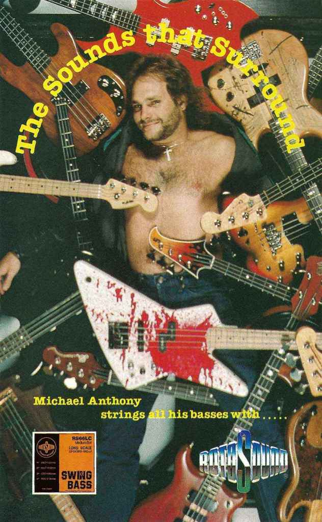 Michael Anthony Van Halen guitar strings rotosound advert