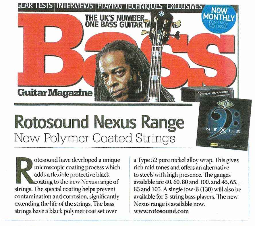 Nexus Bass Rotosound article