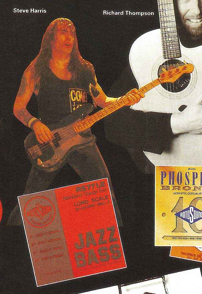 Steve Harris Iron Maiden bassist advert cutout