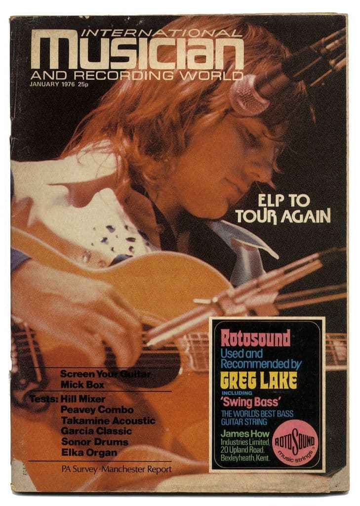 International Musician Recording World Magazine January 1976 ELP Greg Lake Uriah Heep Mick Box Rotosound advert