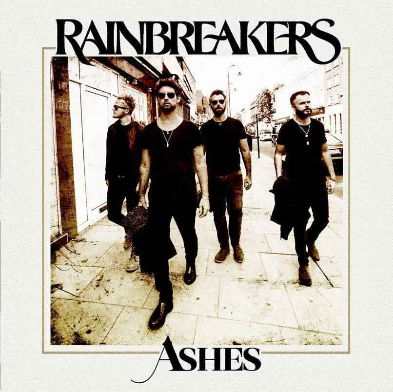 Rainbreakers Ashes single cover. Rotosound rock band