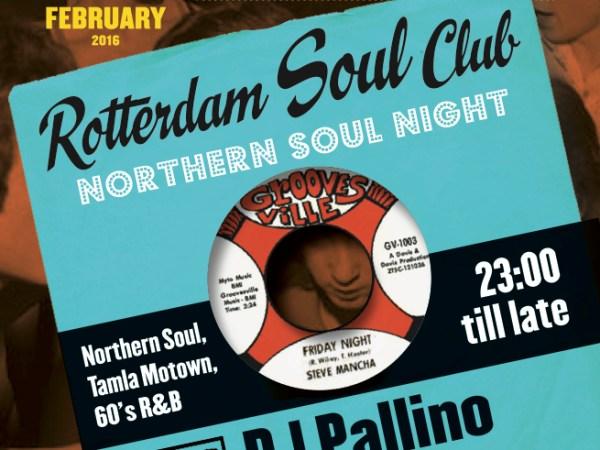 Rotterdam Soul Club is een maandelijkse dansavond in Rotown met Northern Soul, 60's R&B, 60's Tamla Motown en plenty of Up-tempo Soul.