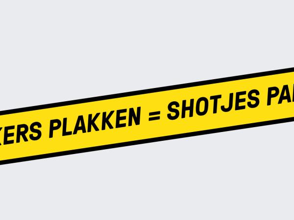 Stickers Plakken = Shotjes Pakken
