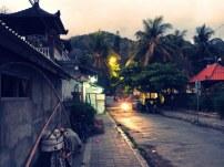 Padang Bai am Abend