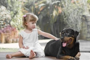 Rottweilers are good with kids