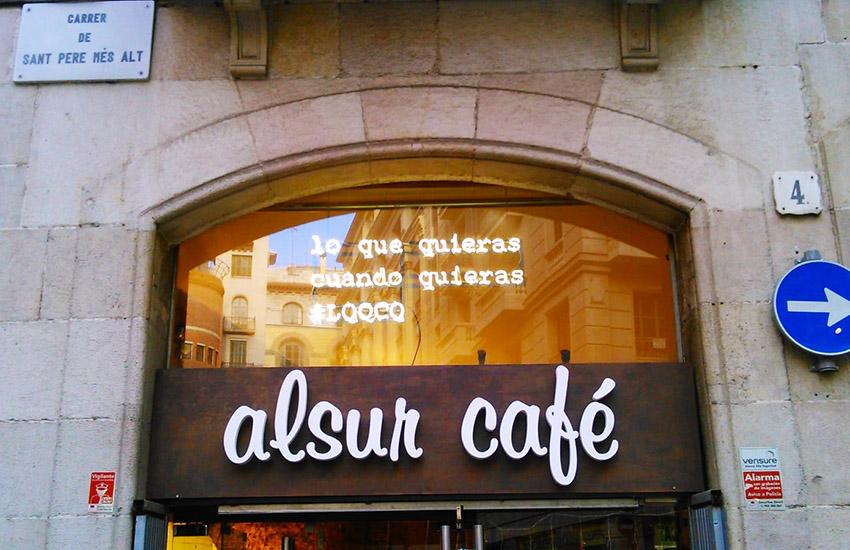 letras corporeas channelume alsurcafe cafeteria