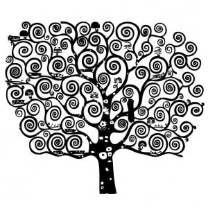vinilo decorativo  arbol espirales