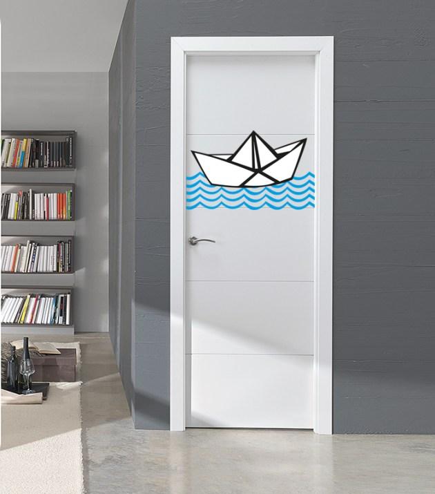 barco de papel puerta