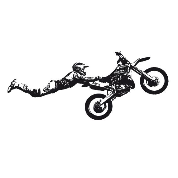 Salto motocross