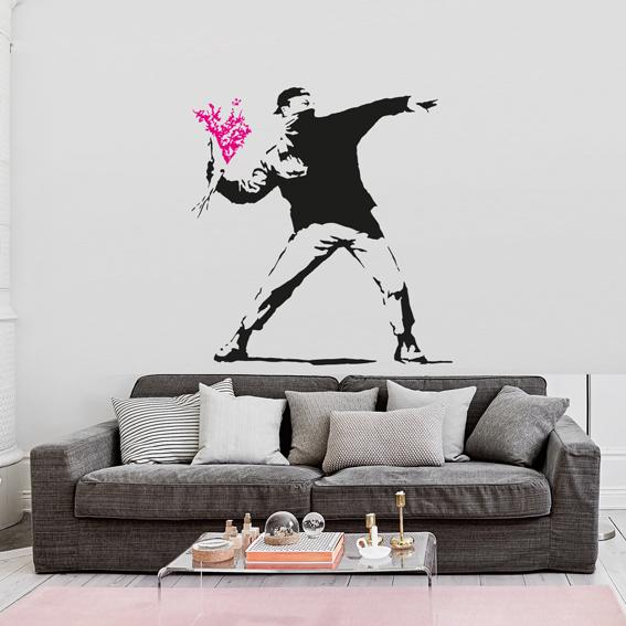 Lanzador de flores Banksy