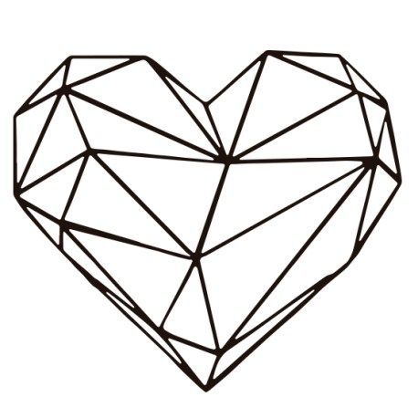 corazon geometrico