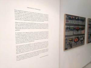 Vinilo introductorio aplicado en pared para la exposición pictórica 'Abundancia y Frugalidad'.