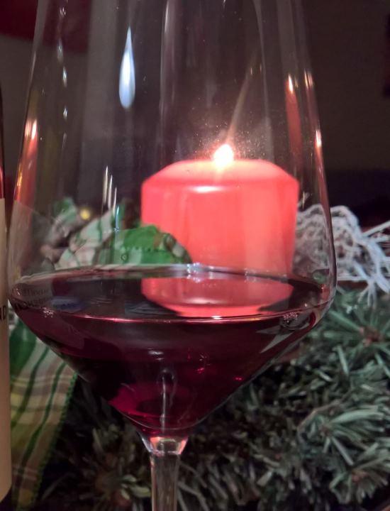 Weinnacht - Rotwein mit Kerze