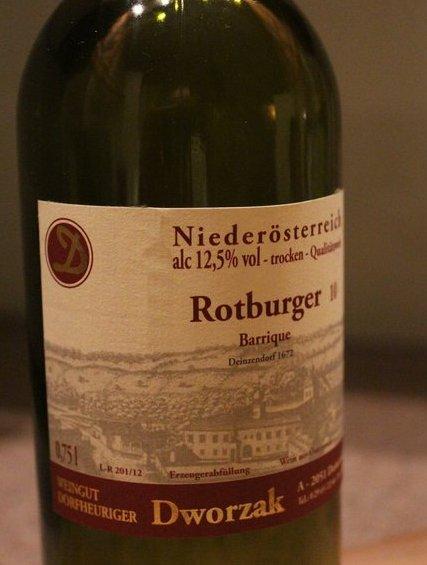 Weingut Dworzak Rotburger 2010