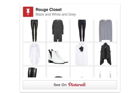 Moodboard - Black and White and Grey, Pinterest