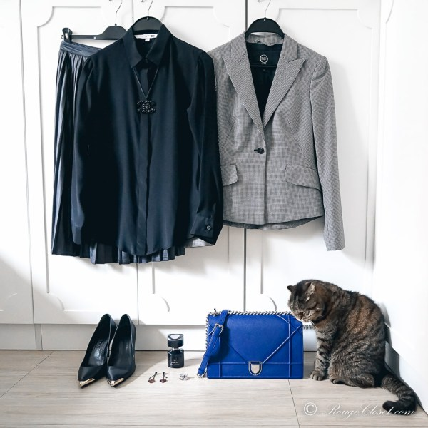 Office outfit - mixing textures