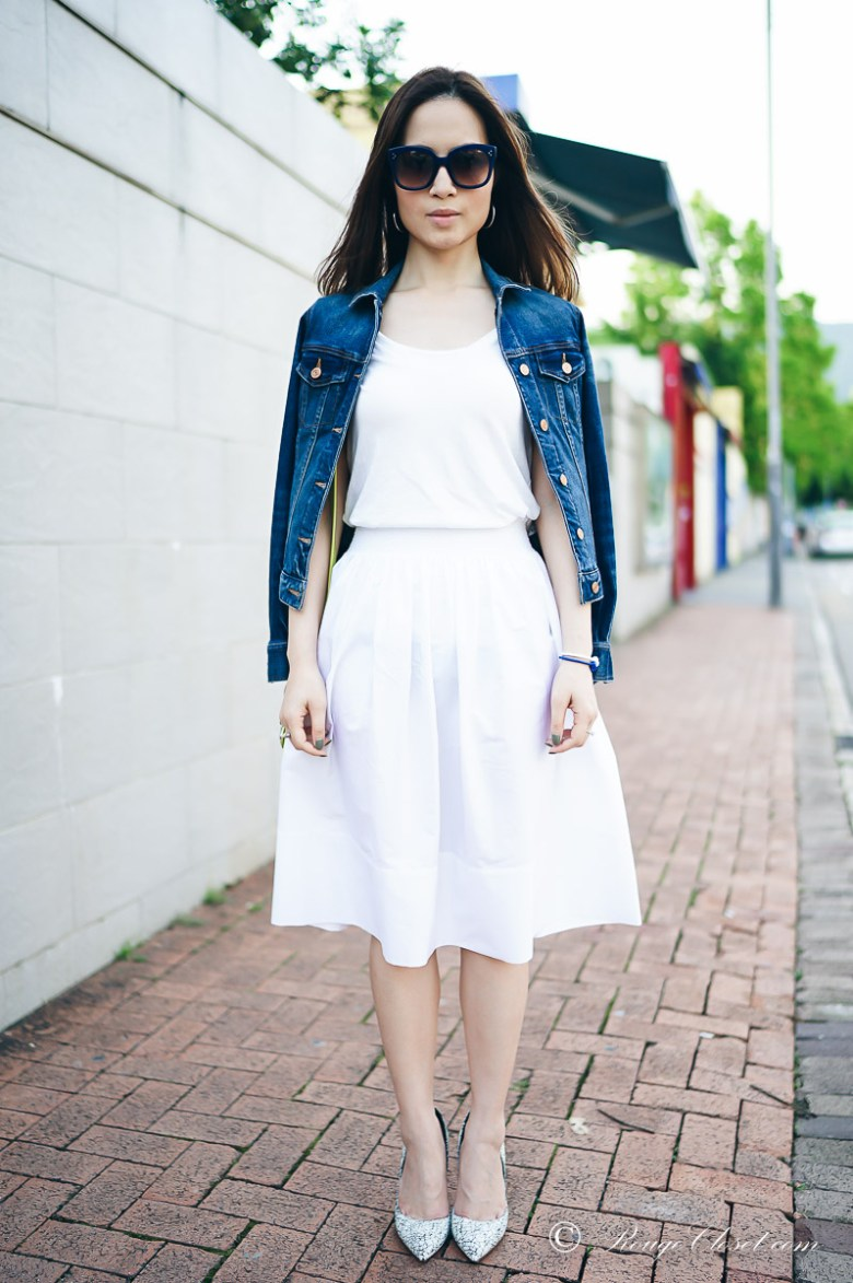 White Cotton Skirt Style by Rouge Closet