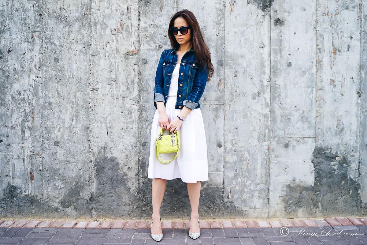 Rouge Closet Staples: White Cotton Skirt 白色棉裙