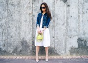 Rouge Closet Staples: White Cotton Skirt 白色棉裙