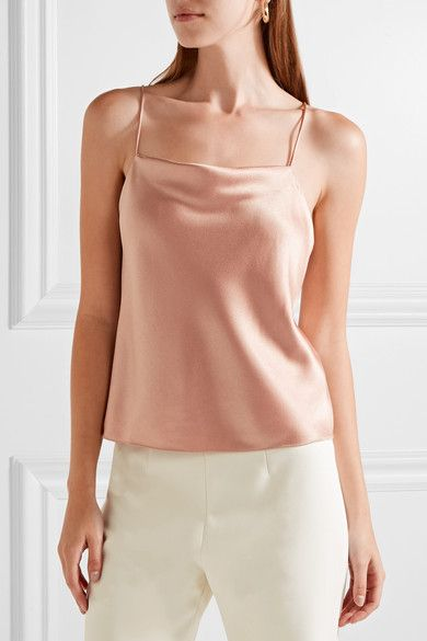 Alice +Olivia Harmon satin-crepe camisole