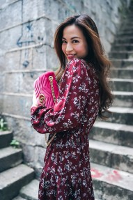 Rouge Closet in 66Girls floral print dress