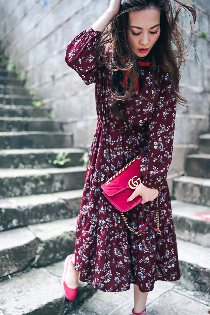 Rouge Closet - Ruby K in 66Girls vintage style dress and Gucci Marmont bag