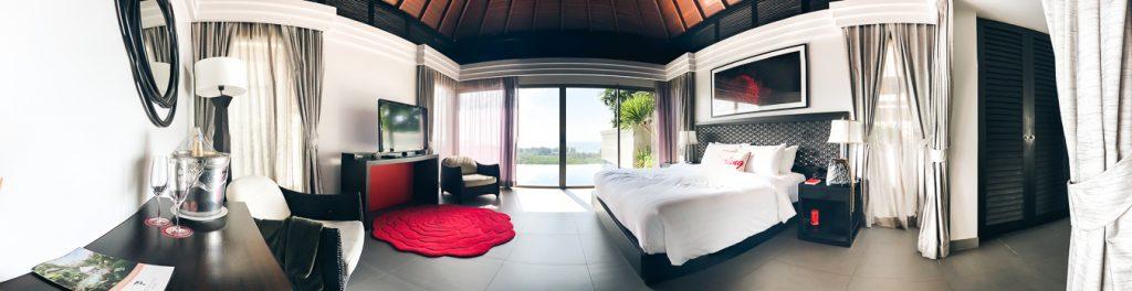 The Bedroom of the Ocean View Pool Villa