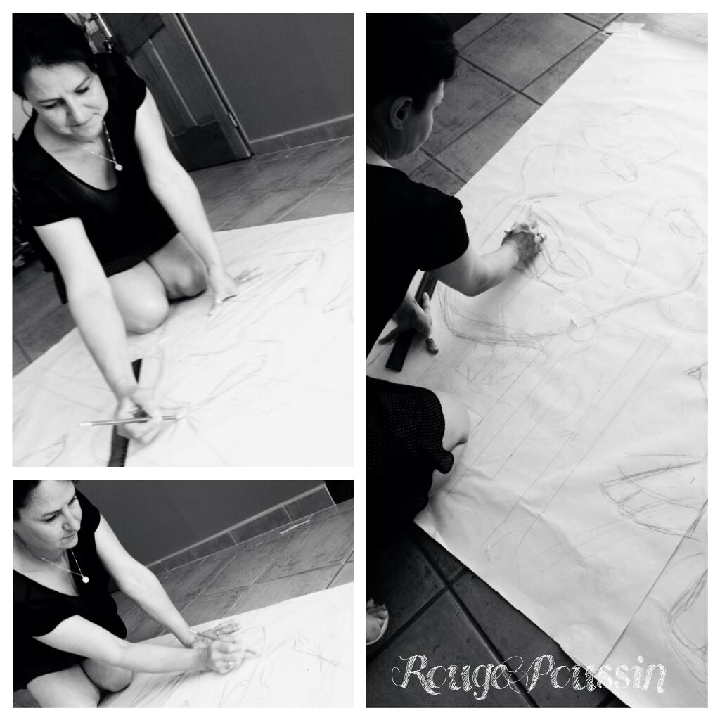 Préparation du concours de peinture de Toulouges 2014