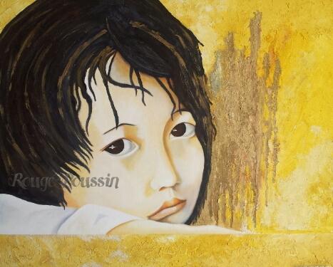 """""""Jolie Moue"""" : Peinture à l'huile de Carole Alexandre"""