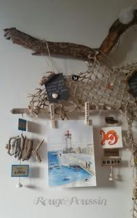 """Zoom de quelques détails de """" Cueillette en bord de mer"""""""