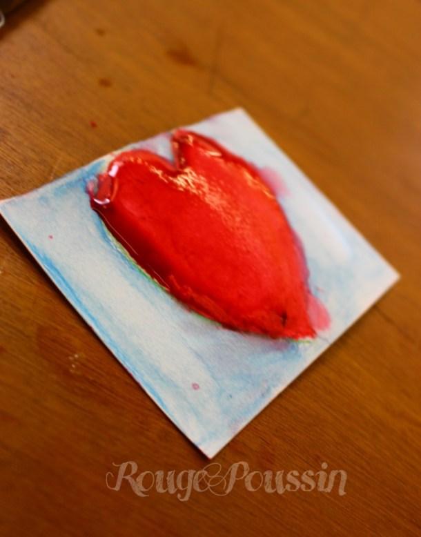 Coeur à l'aquarelle