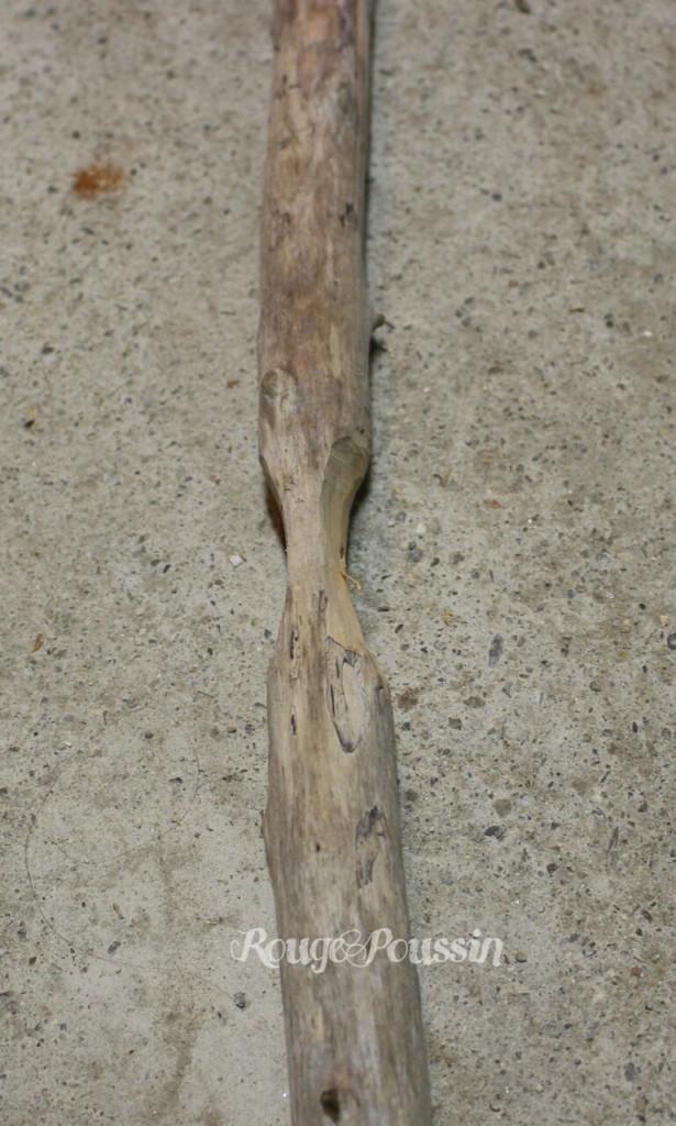 Une branche du sapin de noël en bois flotté
