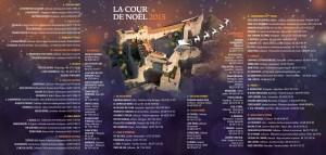 """Verso du du programme de la """"Cour de Noël"""" 2015"""