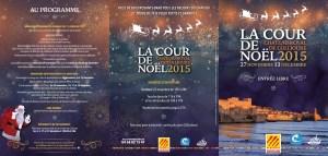 """Programme de """"la cour de noël"""" Collioure 2015"""