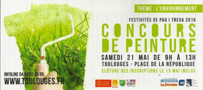 Affiche du concours de peinture Toulouges 2016