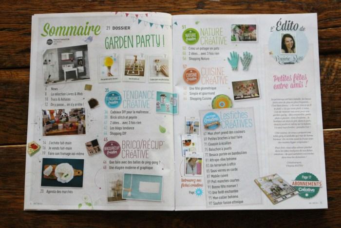 """Sommaire du magazine """"Créative"""" de mai-juin 2016"""