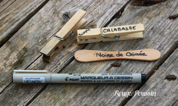 Fabriquer des étiquettes de jardin avec des pinces à linge